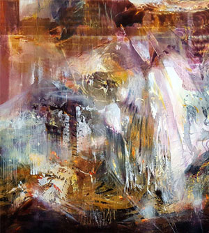 A WAY TO INFINITY 6 LARGE FANTASTIC FASCINATING MINDSCAPE ABSTRACT LANDSCAPE BY O KLOSKA