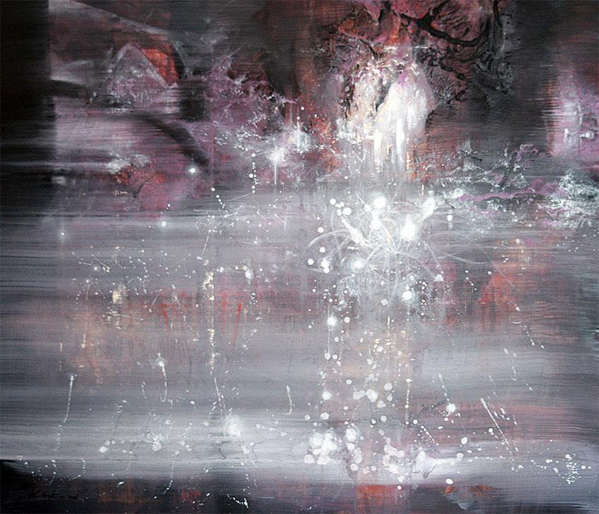 HUGE MASTERPIECE BY OVIDIU KLOSKA STEP OUTSIDE MY SHADOW COSMIC VIBRATIONS FANTASTIC DARK BEAUTY, 2016