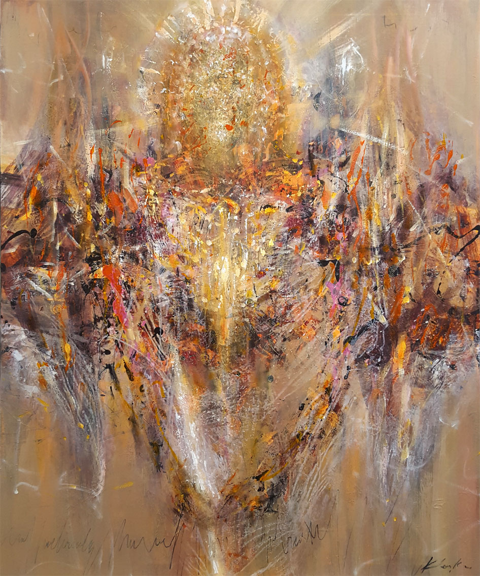 VERY LARGE LIGHT ANGEL SPIRITUAL METAPHYSIC ONEIRC PAINTING BY ARTIST O KLOSKA