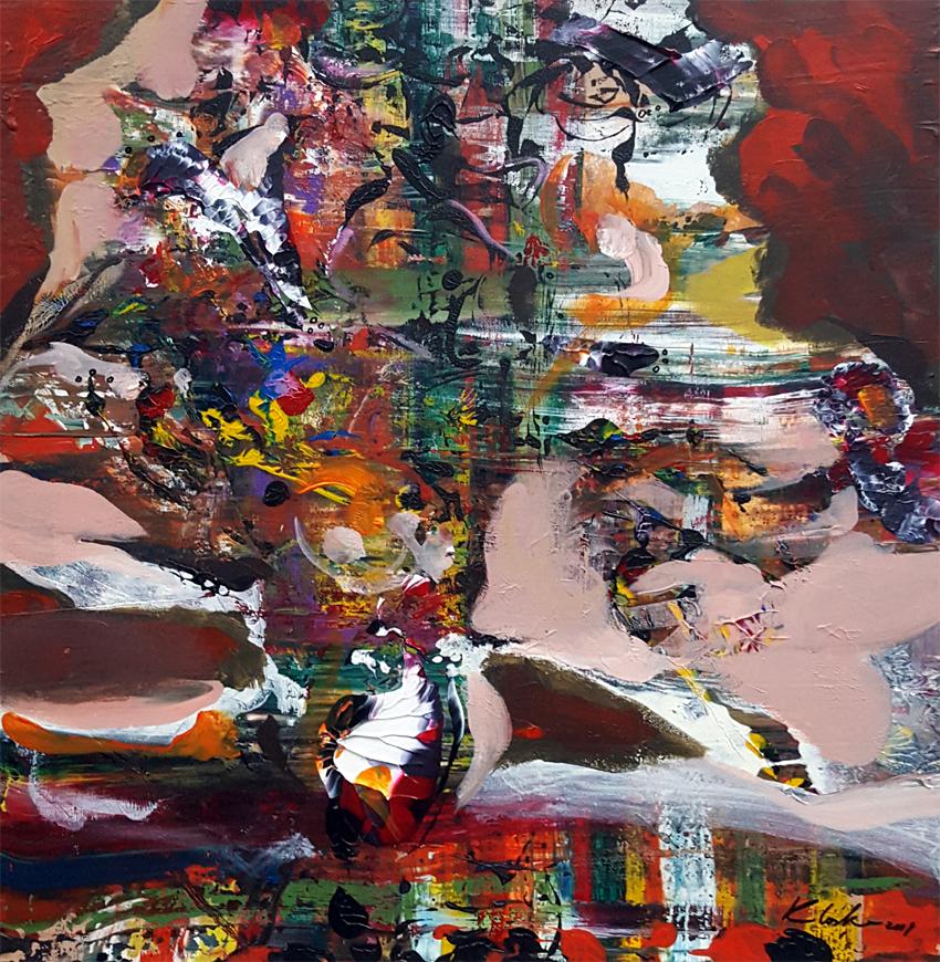 Abstract fascinating still life painting by Ovidiu Kloska