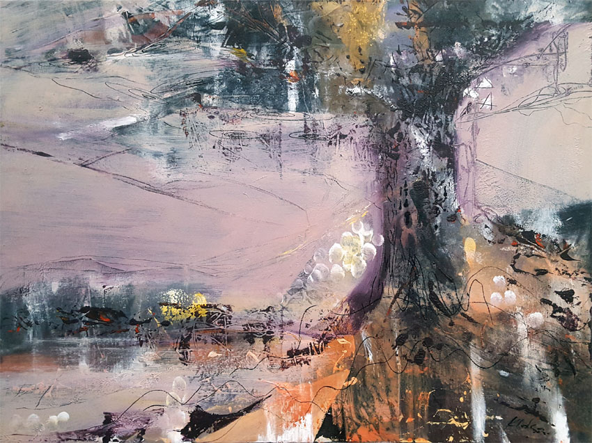 Singularity Tree composition spiritual art signed O KLOSKA / Available