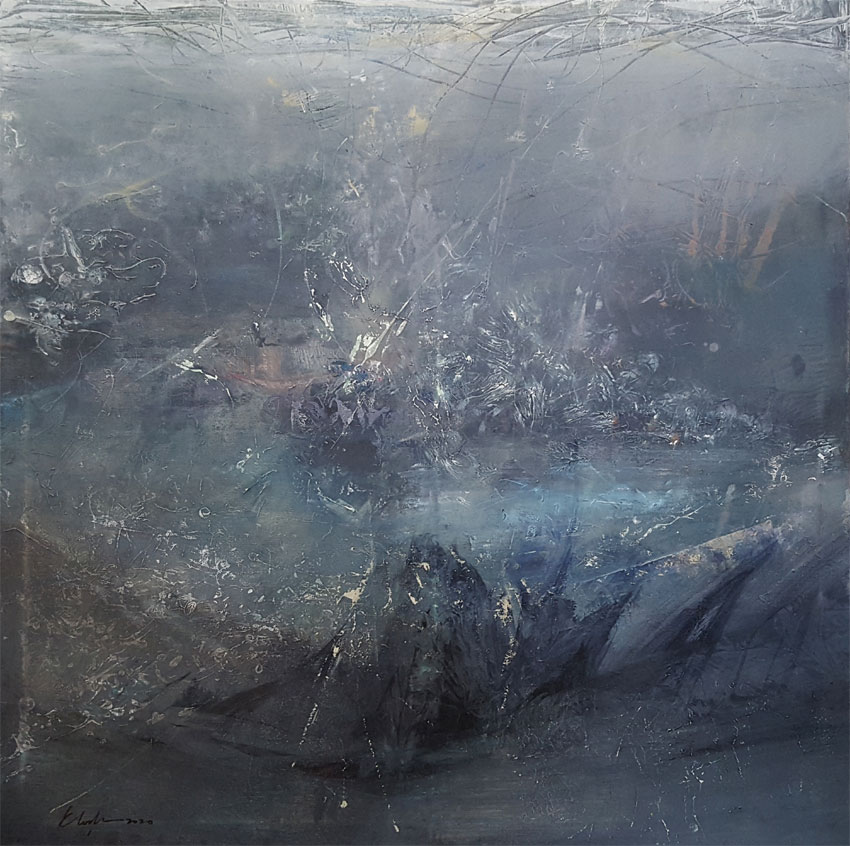 Sublime greyscape divine silence painting by O KLOSKA / Available