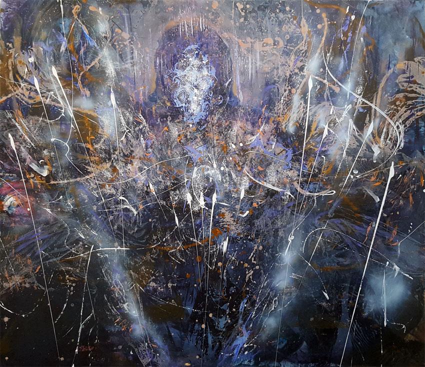 Huge oneiric painting enigmatic angel by KLOSKA / 2000 Eur