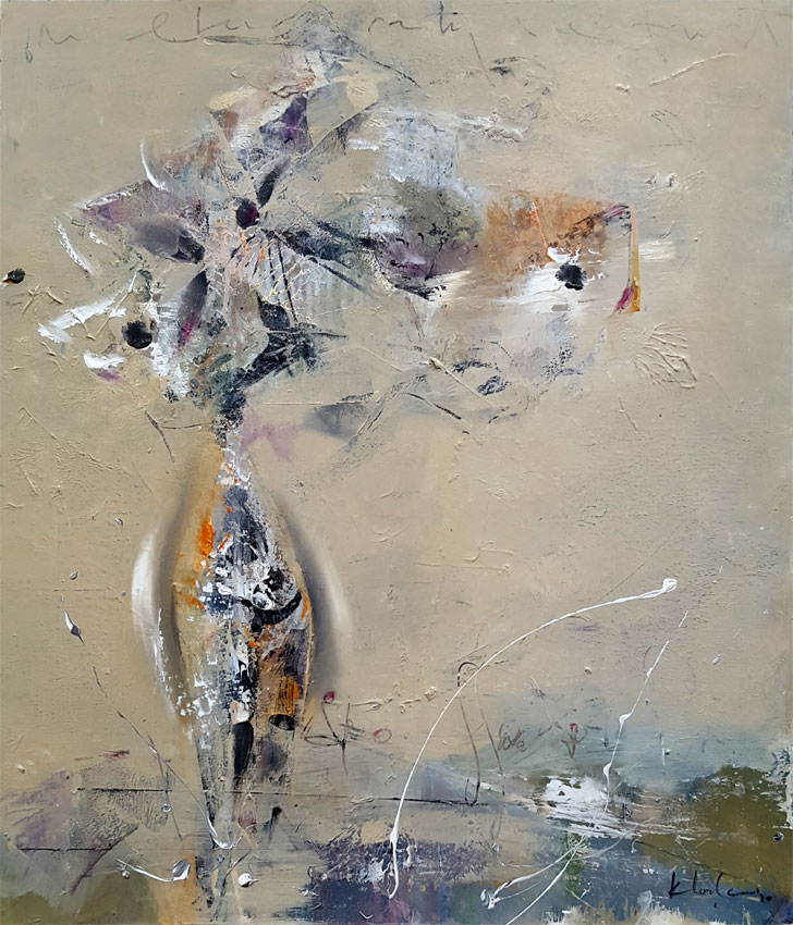 Ghostly warm grays abstract still life by O KLOSKA / 400 Eur