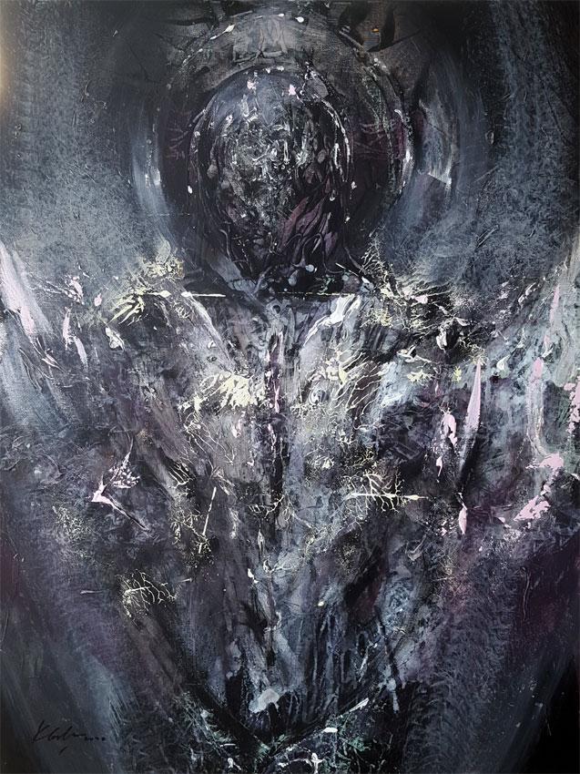 Enigmatic spiritual human like angel by KLOSKA / 700 Eur