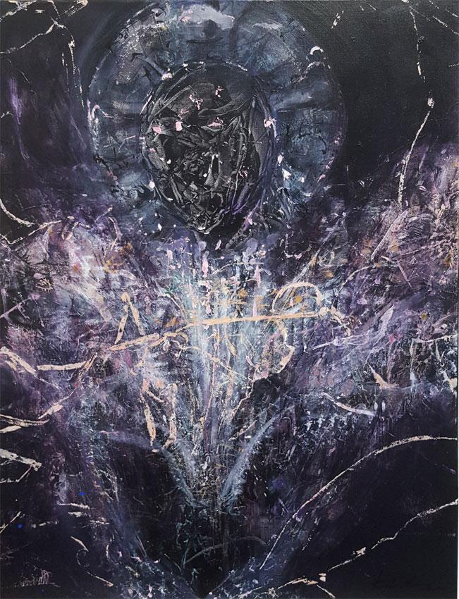 Dark enigmatic human shape angel by KLOSKA / 700 Eur