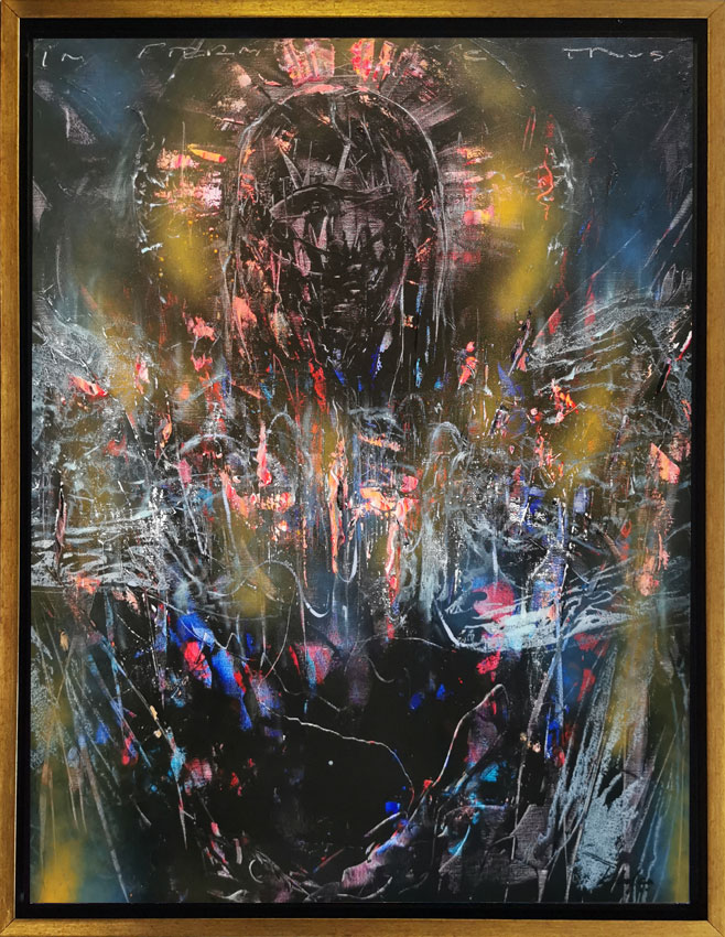 Fascinating enigmatic angel composition by master O KLOSKA / Available