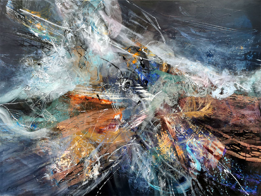 Gigantic XXL painting large scale painting fantastic flight by master Kloska / Available